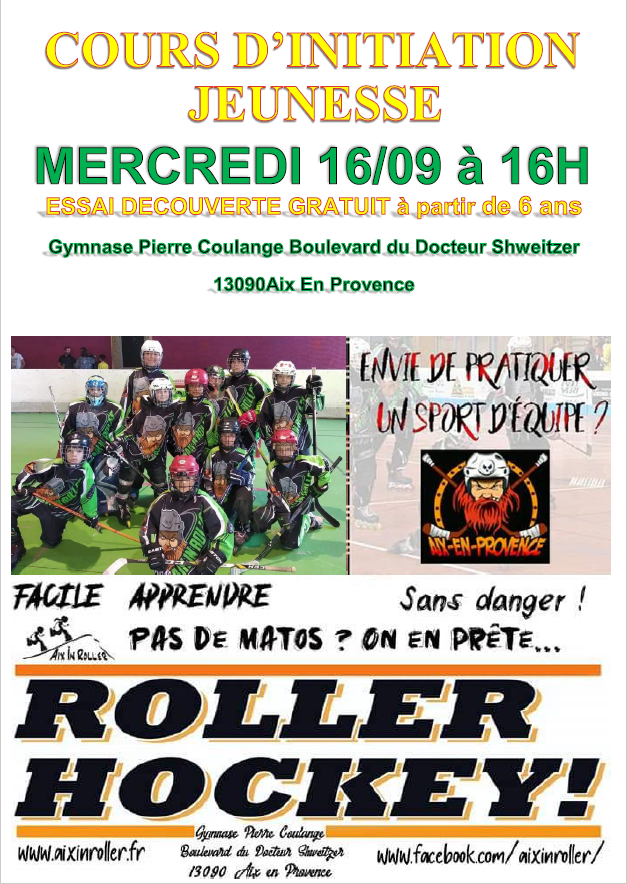 Affiche initiation roller hockey aix en provence