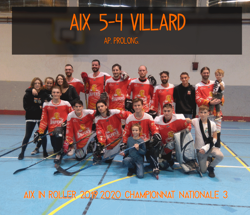 equipe roller hockey N3 Aix vs villard bonnot